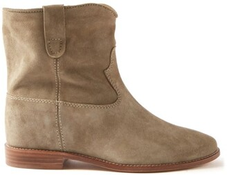 Isabel Marant Crisi Suede Ankle Boots - Beige