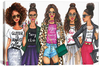 iCanvas Fashionistas, African American Canvas Wall Art