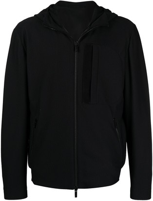 Giorgio Armani Zip-Front Hooded Jacket