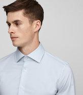 Reiss Reiss Oxide - Slim-fit Stretch Shirt In Blue, Mens