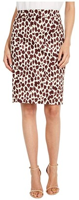 J.Crew No.2 Pencil Skirt in Giraffe (Neutral/Brown) Women's Skirt