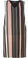 Dorothy Perkins Womens DP Curve Plus Size Black Stripe Split Side Top- Black