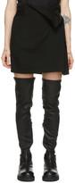 Ann Demeulemeester Black Wool Wrap Skirt