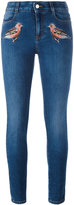 Stella McCartney robin embroidered skinny jeans