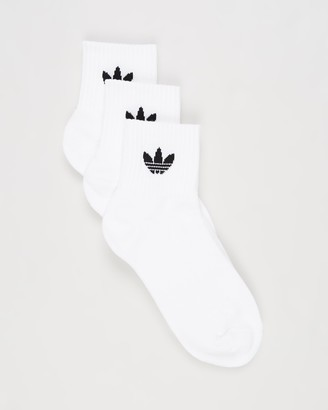 adidas White Crew Socks - Mid-Cut Crew Socks 3-Pack - Size S at The Iconic