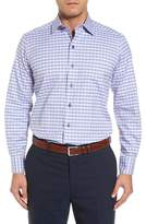 David Donahue Men's Check Regular Fit Sport Shirt