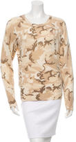 Equipment Cashmere Camo Patterned Sweater