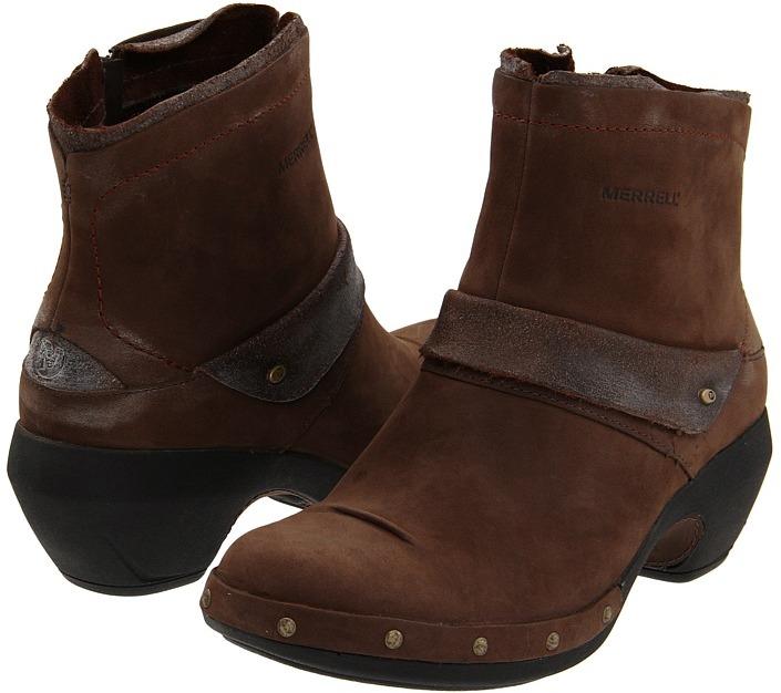 Merrell Luxe Mid (Bitter Chocolate) Women's Zip Boots