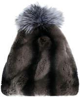 N.Peal pompom fur beanie hat
