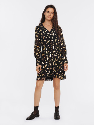 Diane von Furstenberg Mylah Chiffon-Blend Mini Dress