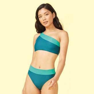 Summersalt The Sidestroke Bikini Top - Seaglass & Seaweed