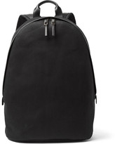Paul Smith Leather-Trimmed Cotton-Blend Twill Backpack