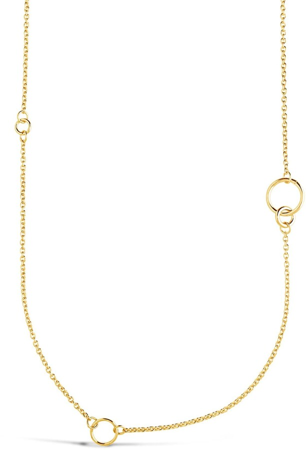 long chain gold plated necklace and bracelet Long gold plated necklace and bracelet .50s