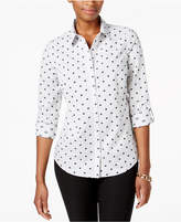 Charter Club Cotton Printed Shirt, Created for Macy's