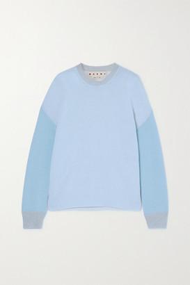 Marni Color-block Cashmere Sweater - Light blue