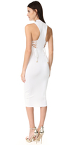 Cushnie et Ochs Deep Racer Lace Up Dress