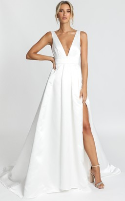 Showpo Eyes Of The Beholder Gown in white - 6 (XS) Bridal Gowns