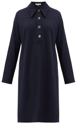 Tibi Bond Stretch-knit Shirtdress - Womens - Navy