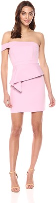 BCBGMAXAZRIA Azria Women's Off-The-Shoulder Peplum Dress