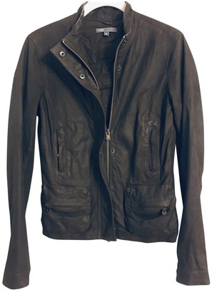 Vince Brown Leather Jackets