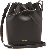 Mansur Gavriel Navy-lined Mini leather bucket bag