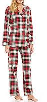 Lauren Ralph Lauren Plaid Brushed Twill Classic Pajamas