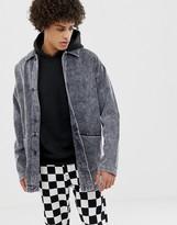 Asos Design DESIGN cord worker jacket in black