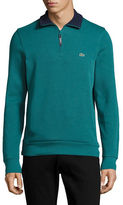 Lacoste Lined Quarter Zip Long Sleeve Pullover