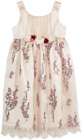 Bonnie Jean Floral-Embroidery Lace-Trim Dress, Toddler and Little Girls (2T-6X)