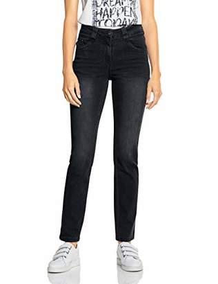 Cecil Women's 372532 Toronto Slim Fit Jeans, (Black Denim 10273), W30/L32 (Size: 30)
