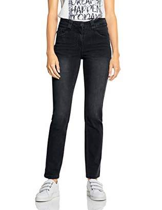Cecil Women's 372532 Toronto Slim Fit Jeans, (Black Denim 10273), W31/L32 (Size: 31)