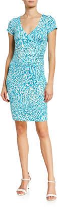 Julie Brown Lizzy Ruched Side Jersey Sheath Dress