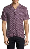 7 For All Mankind Men's Print Dress Shirt