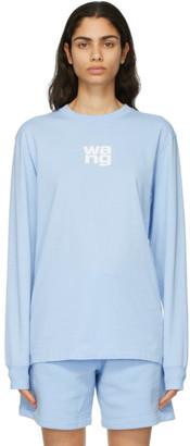 Alexander Wang Blue Puff Logo Long Sleeve T-Shirt