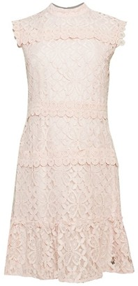 Julia Jordan Lace Flounce Dress