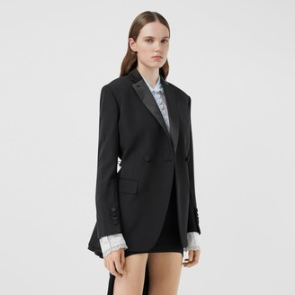 Burberry Cut-out Back Wool and Taffeta Tuxedo Jacket