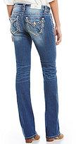 Miss Me Border Pocket Slim Stretch Bootcut Jeans