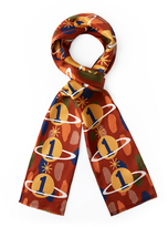 Vivienne Westwood Gaia the Only One Double Scarf in Brick Red