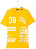 Diesel printed T-shirt - kids - Cotton - 14 yrs