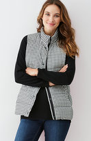 J. Jill Stockbridge Gingham Down Puffer Vest
