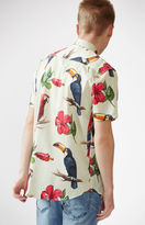 Duvin Design Birdie Short Sleeve Button Up Camp Shirt