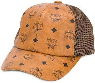 MCM Monogram Print Mesh Cap