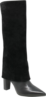 Charles David Devil Pointed Toe Knee High Boot
