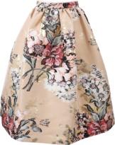 Fendi Floral Print Full Skirt