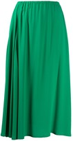 Alysi elasticated waist midi skirt