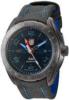 Luminox Men's 'SXC/XCOR GMT' Swiss Quartz Stainless Steel and Canvas Aviator Watch, Color:Grey (Model: 5121)