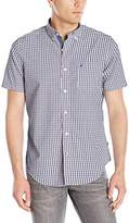 Nautica Men's Gingham Short Sleeve Shirt