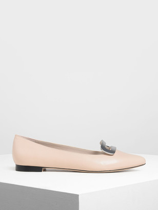 Charles & Keith Metal Accent Ballerinas