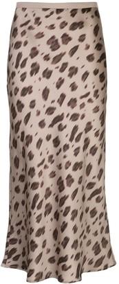 Anine Bing leopard print midi skirt