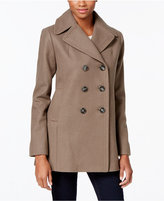 Kenneth Cole Petite Double-Breasted Peacoat, Created for Macy's